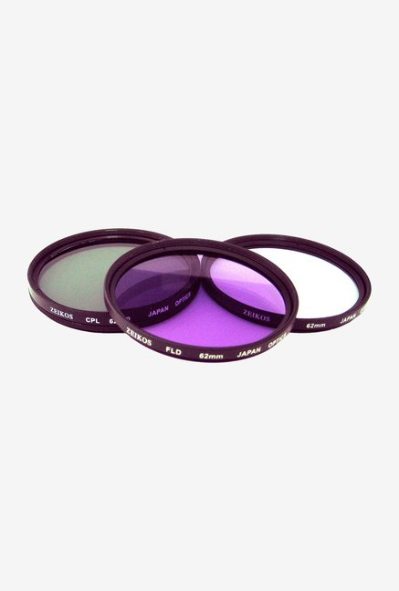 Zeikos 62mm Multi-Coated ZE-FLK62 Filter Kit (3 Piece)
