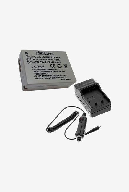 Two Halcyon 1200 Mah Lithium Ion Replacement Battery And Charger Kit For Canon