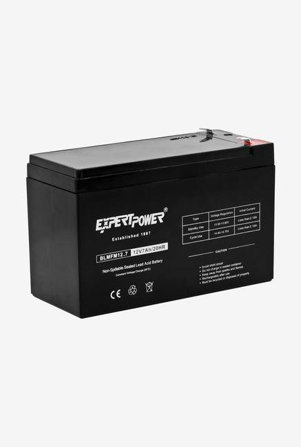 Expertpower 12V 7 Amp Rechargeable Battery - Black
