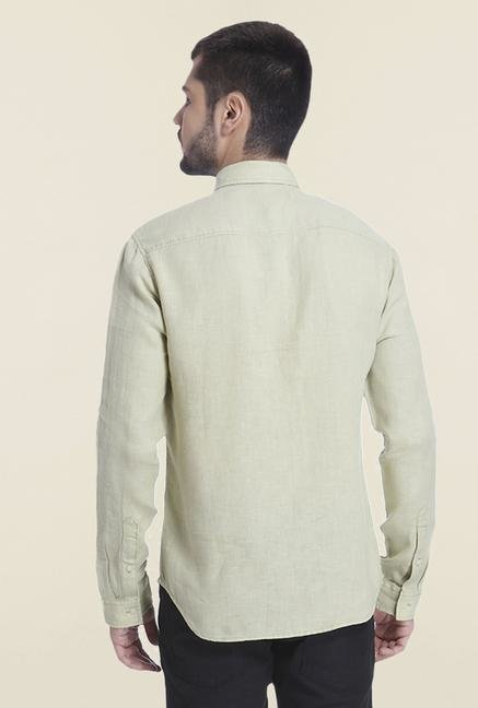 Jack & Jones Olivine Solid Linen Shirt
