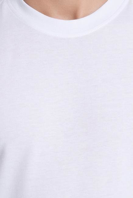 Jack & Jones White Casual Cotton T Shirt