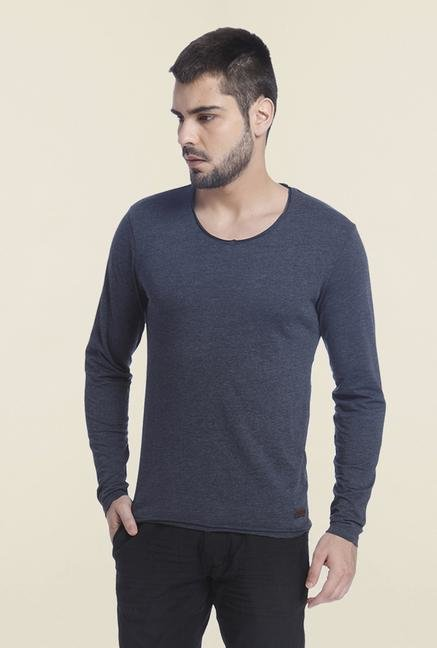 Jack & Jones Navy Slim Fit Solid T Shirt