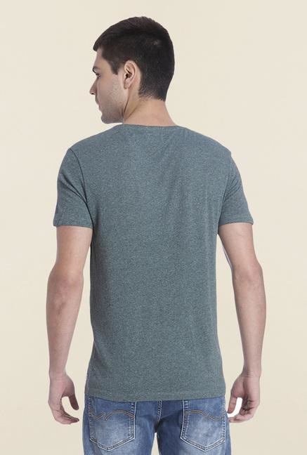 Jack & Jones Grey V Neck T Shirt