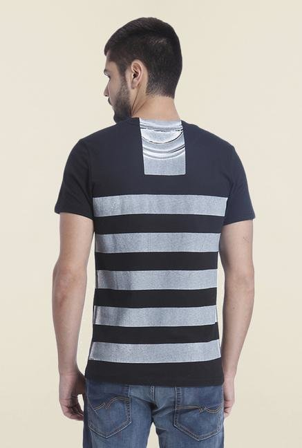 Jack & Jones Black Crew Neck Printed T Shirt