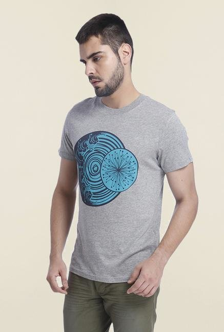 Jack & Jones Light Grey Printed T Shirt