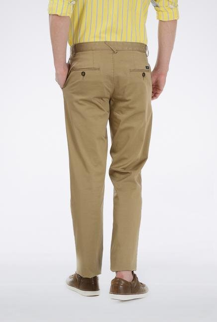 Basics Khaki Slim Fit Trouser