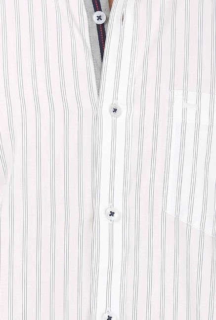 Basics White Thin Striped Shirt