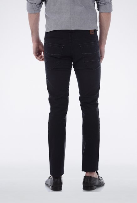 Basics Dark Grey Skinny Fit Casual Trouser