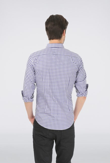 Basics Purple Checked Shirt