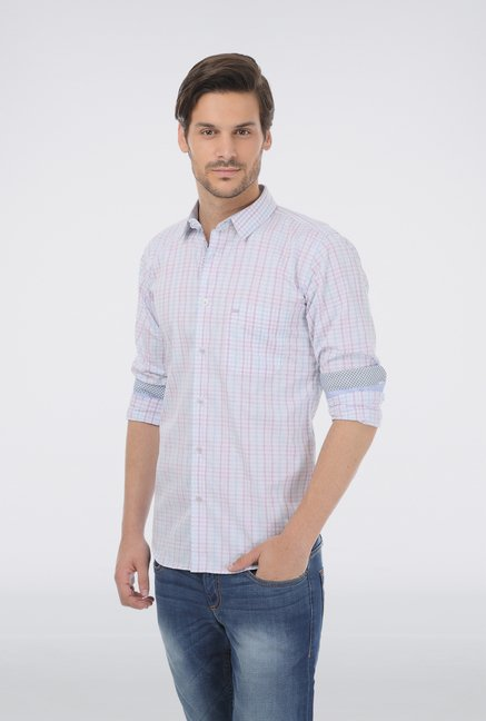 Basics Light Blue Gingham Checkered Shirt