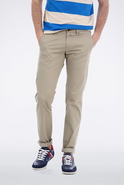 Basics Light Grey Casual Trouser