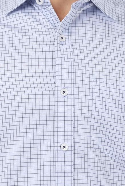 Basics Blue Checked Shirt