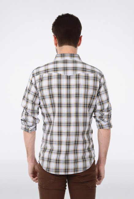 Basics Yellow Plaid Shirt
