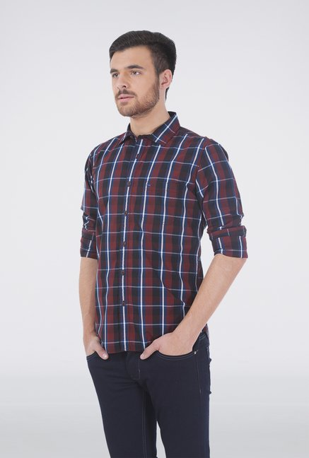 Basics Red Plaid Shirt
