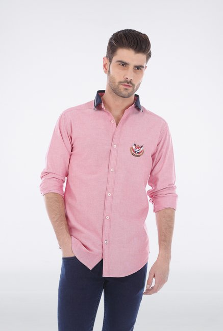 Basics Pink Oxford Weave Shirt