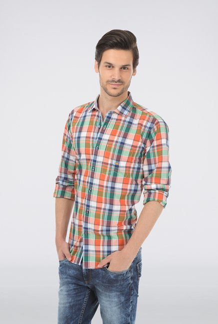 Basics Red Checked Shirt