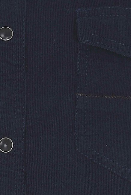 Basics Navy Corduroy Shirt