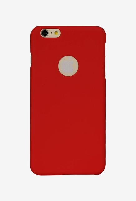 iAccy IP6P004 Cut out Hard Rubber Case Red for iPhone 6 Plus