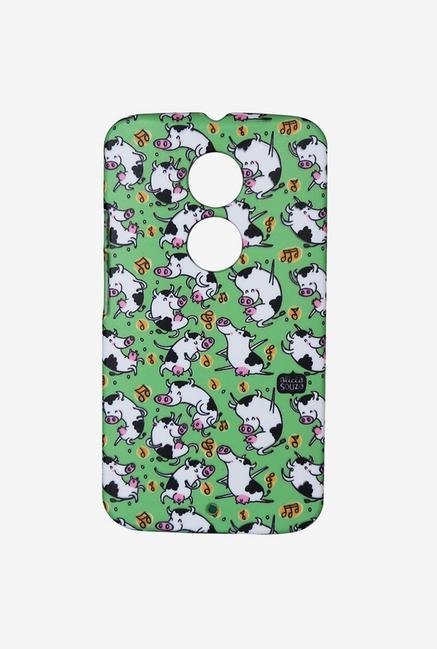iAccy ASDMX2002 Dancing Cow Case Multicolor for Moto X2
