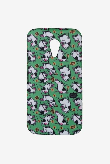 iAccy ASDMG2002 Dancing Cow Case Multicolor for Moto G2