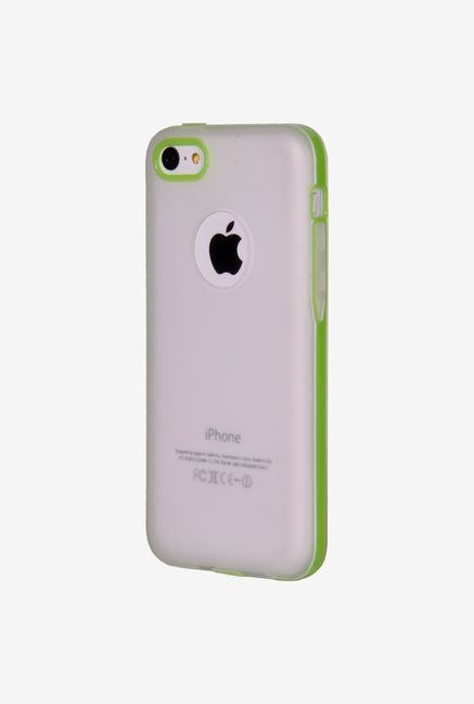 iAccy IP5C016 Logo Cutout Soft Case Green for iPhone 5C