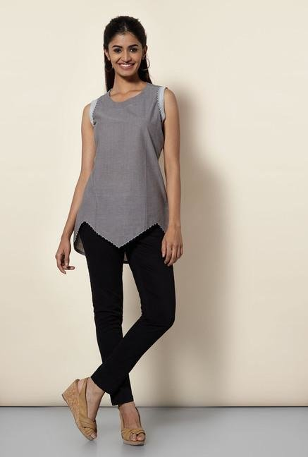 Okhai Dark Grey Cotton Tunic