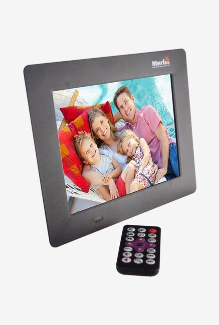 Merlin 8 Inch Digital Photo Frame Black