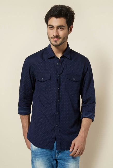 celio* Marine Self Printed Shirt