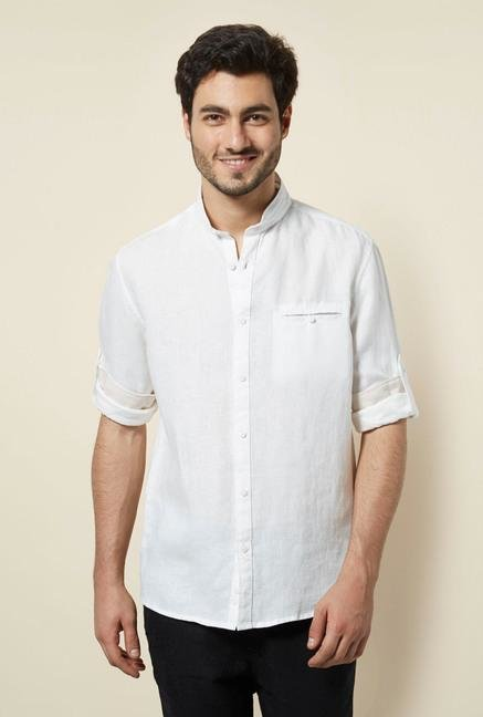 celio* White Solid Casual Shirt