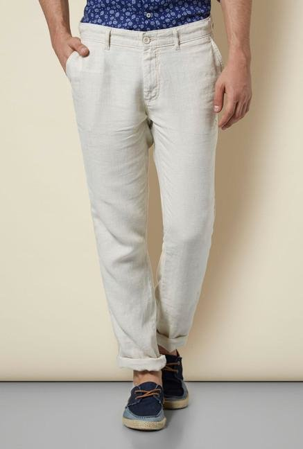 celio* Light Beige Linen Chinos