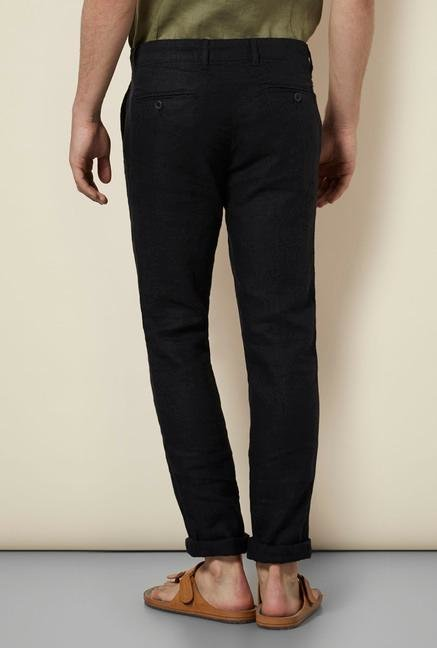 celio* Black Straight Fit Chinos