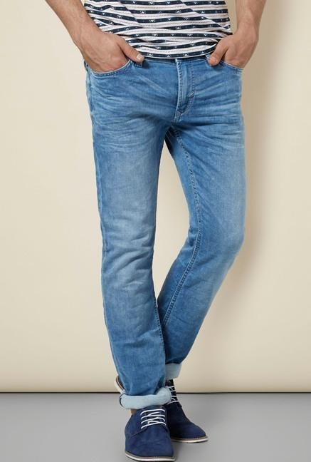celio* Blue Faded Regular Fit Jeans
