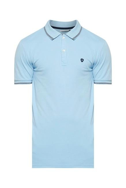 celio* Sky Blue Polo T-Shirt