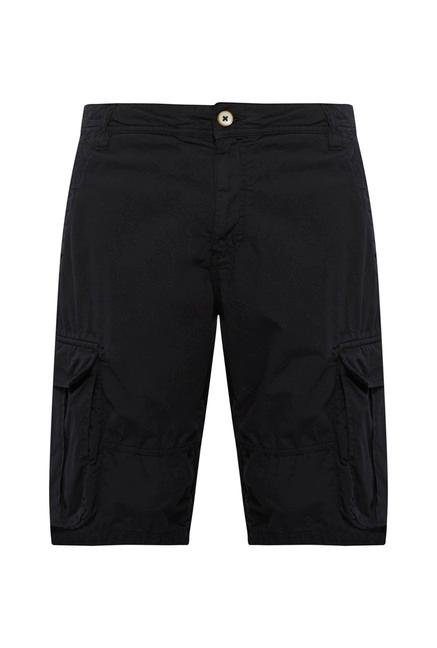 celio* Black Cotton Bermuda Shorts
