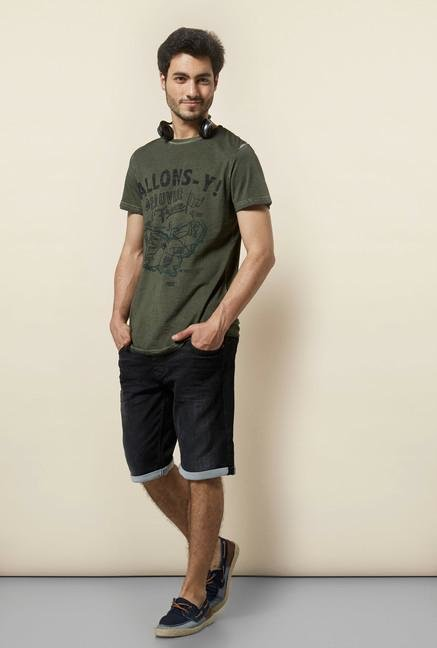 celio* Black Denim Bermuda Shorts