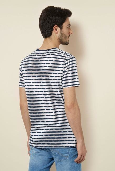 celio* Off-White Striped T-Shirt