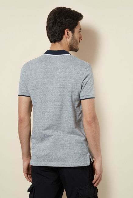 celio* Grey Solid Polo T-Shirt