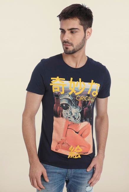 Jack & Jones Navy Crew Neck T Shirt