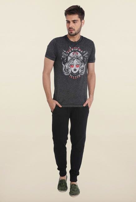 Jack & Jones Grey Crew Neck T Shirt