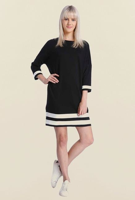 Vero Moda Black Striped Dress