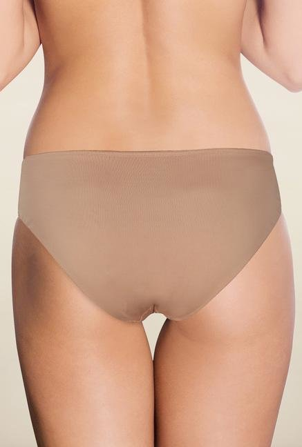 Amante Nude Satin Edge Hipster Panty