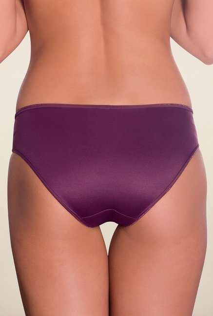 Amante Purple Satin Edge Bikini Panty
