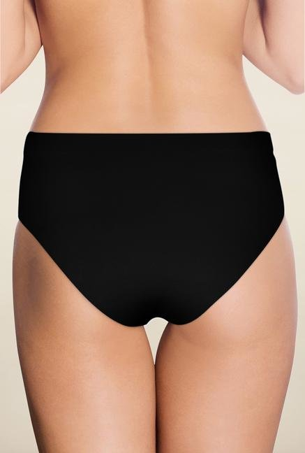 Amante Black Solid High Waist Brief