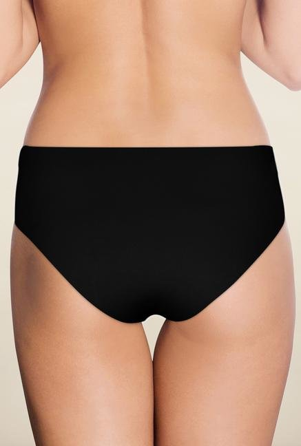Amante Black Solid Hipster Panty
