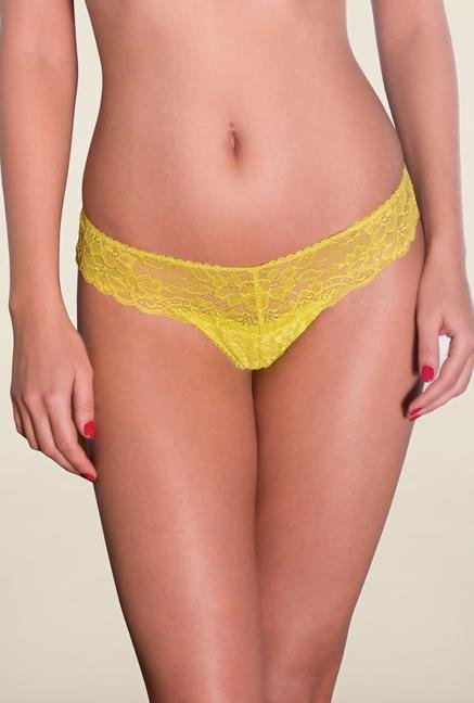 Amante Yellow Lace Thong