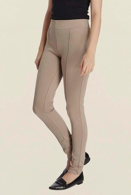 Vero Moda Beige Pintuck Leggings