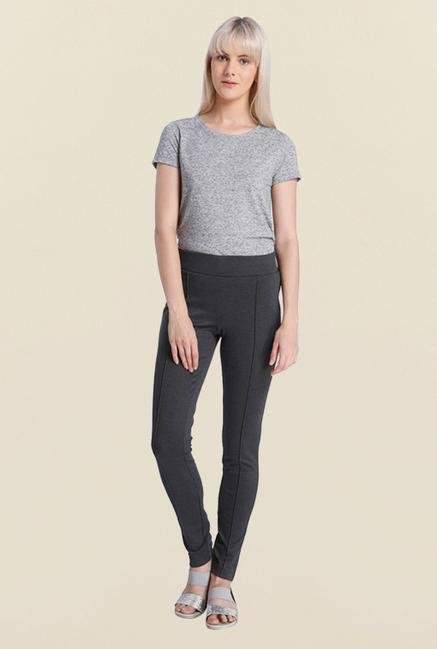 Vero Moda Dark Grey Pintuck Leggings