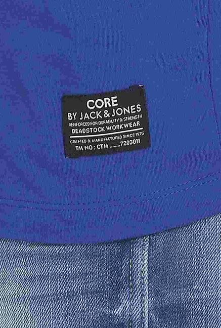 Jack & Jones Blue Crew Neck T Shirt