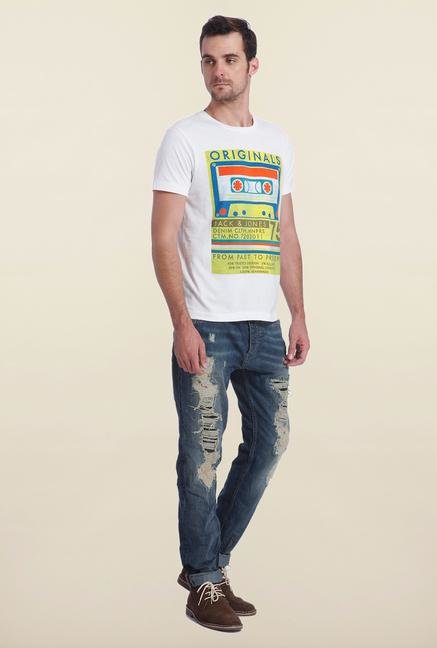 Jack & Jones White Graphic Print T Shirt