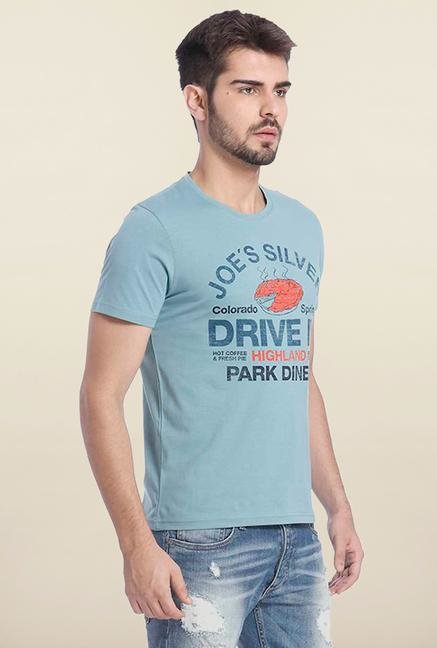 Jack & Jones Light Blue Crew Neck T Shirt